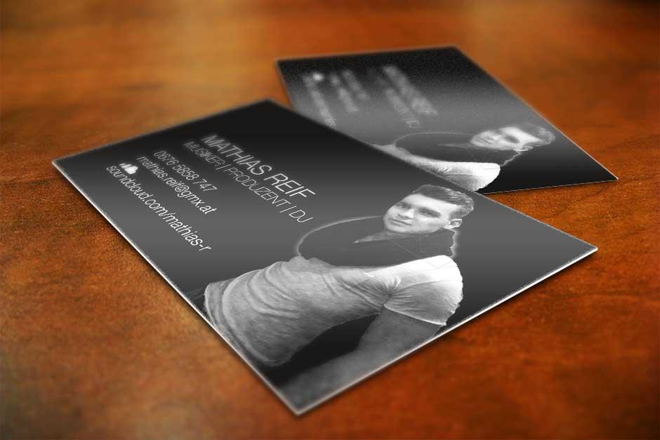 Visitenkarten Dj Mathias Reif Startup Design Wien