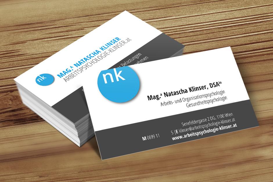 Visitenkarten Mag A Klinser 187 Startup Design Wien