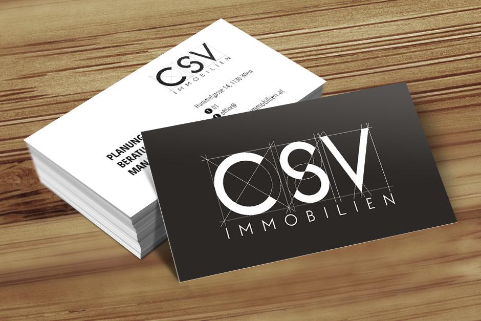 Visitenkarten Csv Immobilien 187 Startup Design Wien